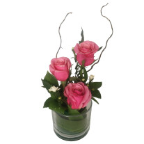 Three Rose Glass Pink